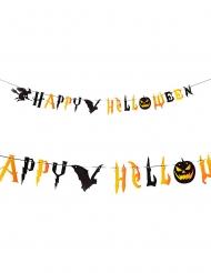 Läskig girlang Happy Halloween 250 cm