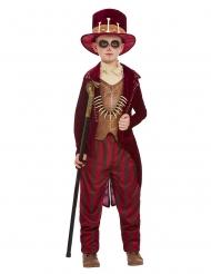 Röd voodoo-trollkarl barndräkt
