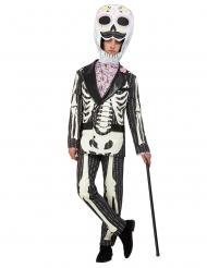 Dia de los Muertos skelett i kostym herrdräkt