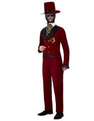 Röd brudgumsdräkt Dia de os Muertos