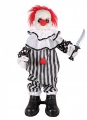 Mordisk clowndekoration med ljud 80 cm