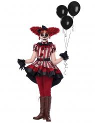 Elak clown flickdräkt