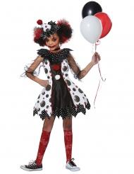 Svartprickig clowndräkt flicka