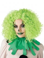 Lockig grön clownperuk vuxen