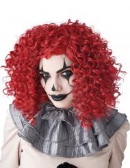 Röd clownperuk vuxen