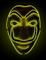 Tjuv-mask gul LED vuxen