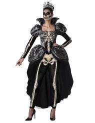 Skelettdrottning maskeraddräkt dam