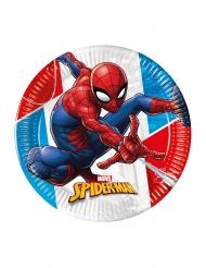 8 Spiderman™ återvinningsbara papptallrikar 23 cm