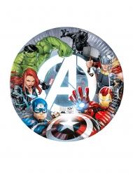8 Avengers™ återvinningsbara papptallrikar 23 cm