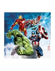 20 Avengers™ återvinningsbara pappersservetter 33x33 cm