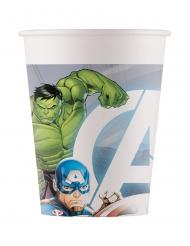 8 Avengers™ återvinningsbara pappmuggar 200 ml