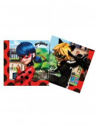 20 Miraculous Ladybug™ återvinningsbara pappersservetter 33x33 cm