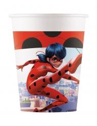 8 Miraculous Ladybug™ återvinningsbara pappmuggar 200 ml