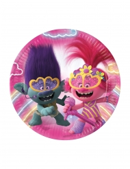 8 Trolls 2™ papptallrikar 23 cm