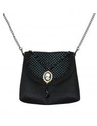 Gotisk svart handväska