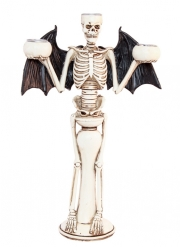 Djävulsk ljusstake skelett 31 cm