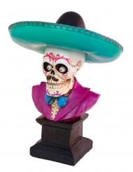 Dekorativ byst mexikanskt skelett 29 cm