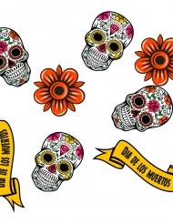 24 Dia de los Muertos-konfetti av trä