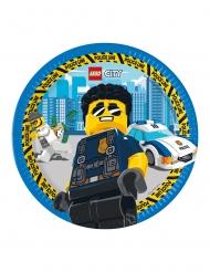 8 Lego City™ papptallrikar 23 cm