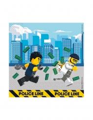 20 Lego City™ pappersservetter 33x33 cm