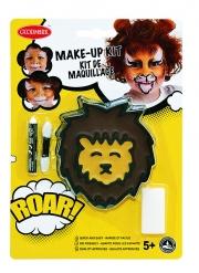 Smink-kit lejon med pensel och svamp barn