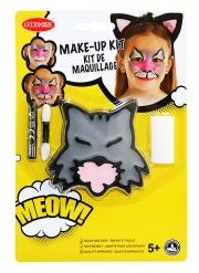 Kattsmink med penna och svamp barn