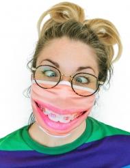 Mask med tandställning vuxen