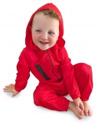 Röd bankrånardräkt bebis