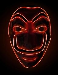 Röd rånarmask LED-ljus vuxen