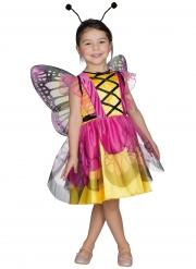 Gulrosa fjärilsdräkt barn