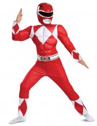 Power Rangers™ röd muskeldräkt barn