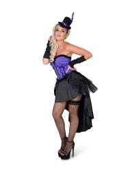 Violett burleskdräkt dam