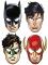 8 kartongmasker från Justice League™