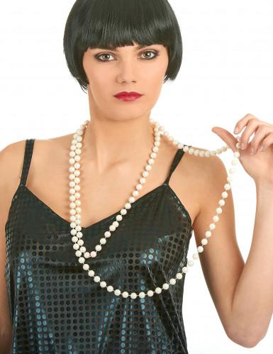 Halskedja med pärlemorfärgade pärlor-1