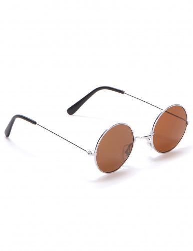 Runda hippieglasögon vuxna-3