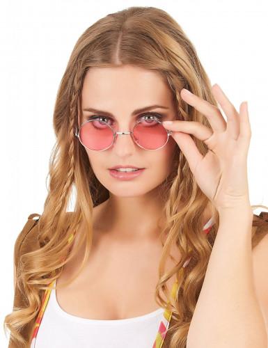 Runda hippieglasögon vuxna-5