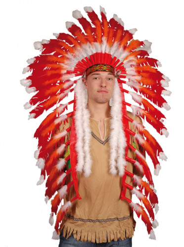 Stor indianhövdingprydnad vuxna