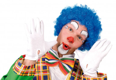 Blå afroperuk clown vuxna