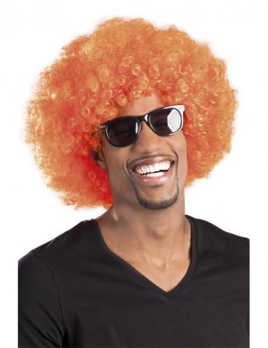 Orange afro/discoperuk vuxna