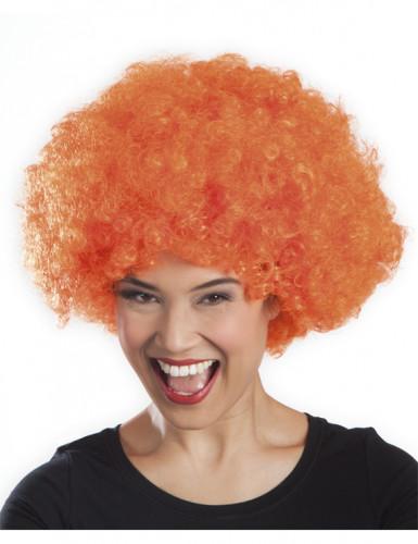 Orange afro/discoperuk vuxna-1
