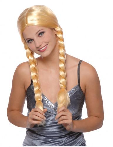 Söt blondin med fältor - Maskeradperuk för vuxna
