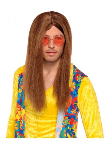 Brun hippieperuk vuxna