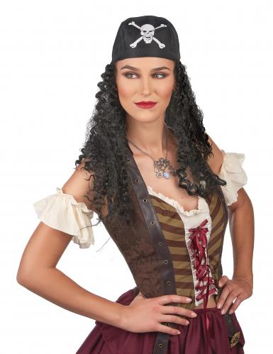 Pirat med svarta lockar - Peruk till temafesten-1