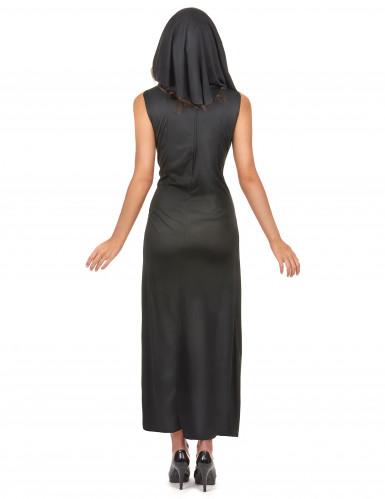 Sexig nunnedräkt med slits dam-2