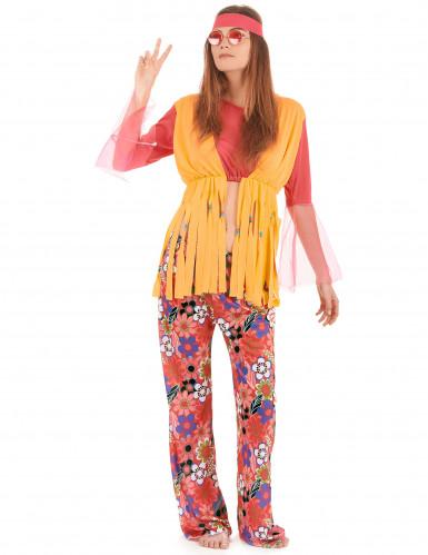 Färgglad hippiedräkt för vuxna