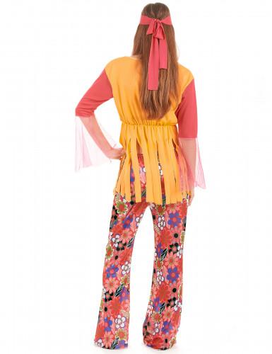 Färgglad hippiedräkt för vuxna-1