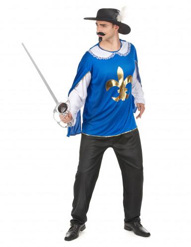 Blå och vit musketör - Maskeraddräkt för vuxna-1