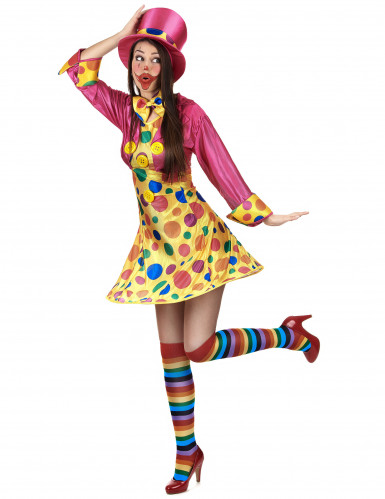Förtjusande clowndräkt för vuxna-1