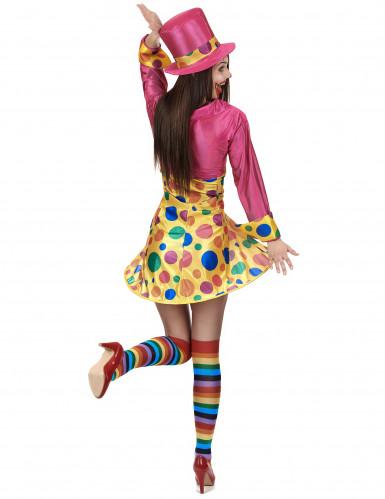 Förtjusande clowndräkt för vuxna-2