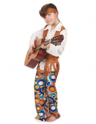 Brun hippiekostym - Maskeradkläder för barn-1